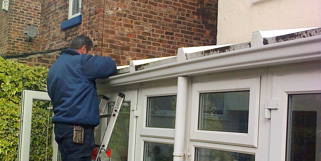 Replacement of a conservatory roof panel and upvc.